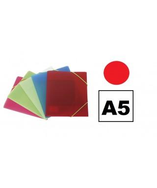 Carpeta pp A5 3 solapas rojo