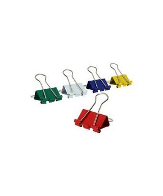 Caja 12 pinzas abatibles 25mm colores su