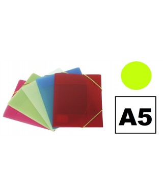 Carpeta pp A5 3 solapas verde