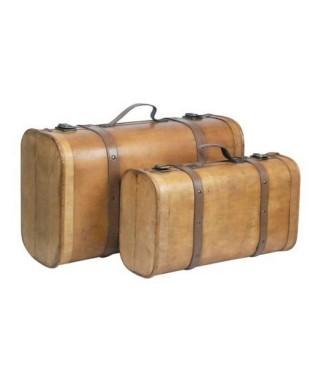 Set de 2 maletas de madera