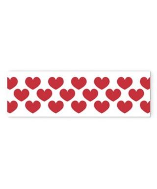 Cinta washi tapes corazones rojos Anita