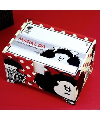 Taco de notas con caja Mafalda