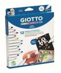 Caja 12 rotuladores decor materials. GIOTTO