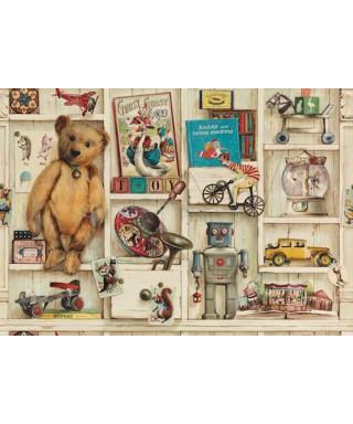 Vintage toy shelves Hojas de papel