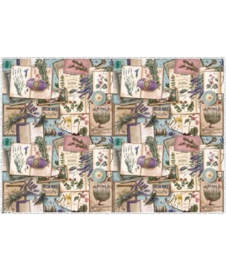 Provence & herbs Hojas de papel