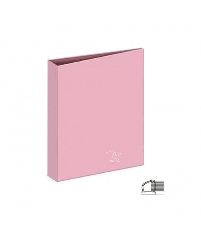 Carpeta anillas rosa pastel