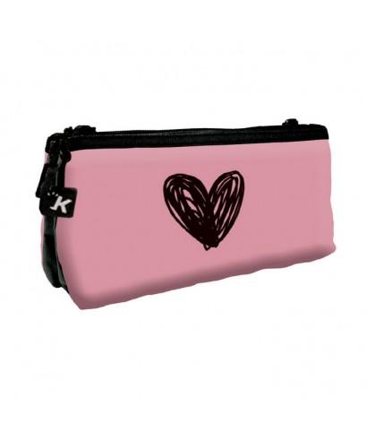 Portatodo doble Katacrak heart rosa