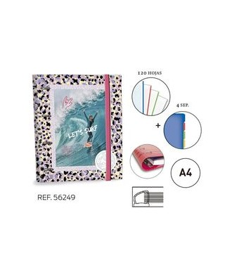 Ringbook A4 30mm Oneill let's surf