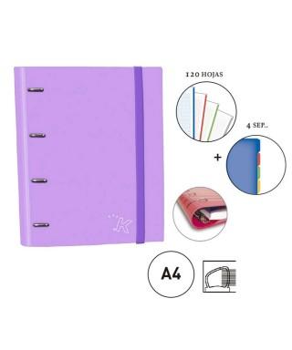 Carpebook violeta pastel