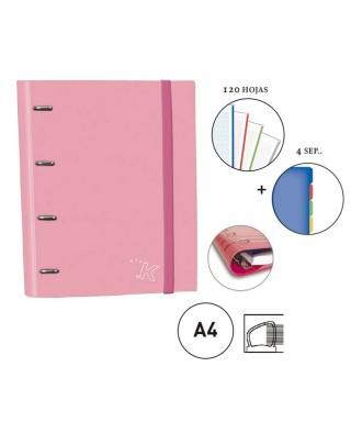 Carpebook rosa pastel
