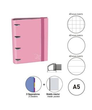 Carpebook A5 rosa pastel