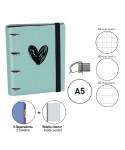 Carpebook A5 Heart verde menta