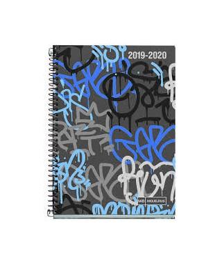 Agenda escolar 117x174 D/P Street art. MIQUELRIUS