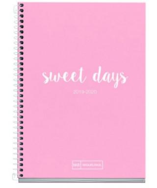 Agenda escolar 117x174 D/P Sweet days. MIQUELRIUS