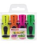 Estuche de 4 mini marcadores fluorescent