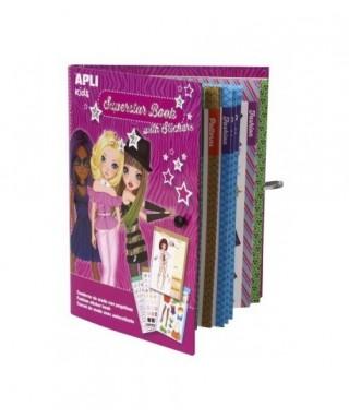 Cuaderno moda superstarbook pegatinas AP