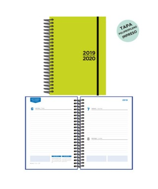 Agenda escolar 19/20 D/P verde