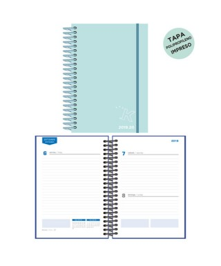 Agenda escolar 19/20 D/P pastel azul