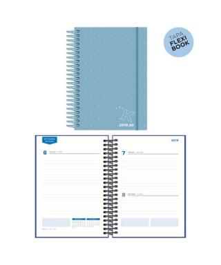 Agenda escolar 19/20 D/P azul pastel