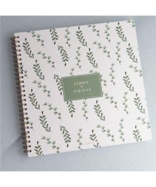 Libro de firmas, verde. LeBlue