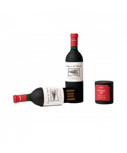 Memoria UBS 16Gb Botella de vino