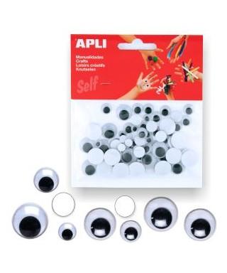 Bolsa ojos moviles negros - APLI - 13263