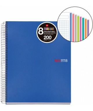 Cuaderno A4 200 hojas tapa PP azul