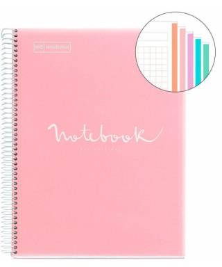 Cuaderno A4 120 hojas tapa PP rosa