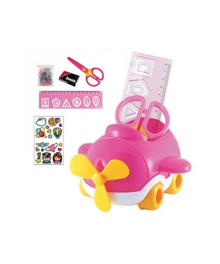 Set escolar avion rosa DOHE