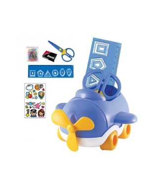 Set escolar avion azul DOHE
