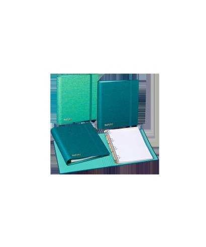 Carpebloc A4- 4 anillas- tela azul. CARCHIVO