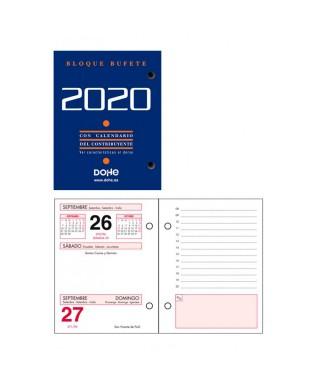 Taco calendario anual ano 2020