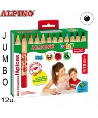Lapiz colores alpino baby 12u ALPINO