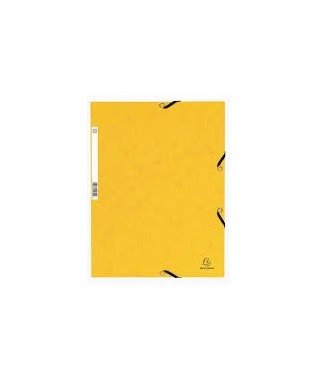 Carpeta con gomas nature amarillo