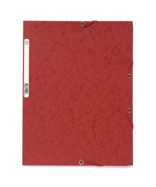 Carpeta con gomas nature rojo