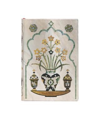Cuaderno AJ MAHAL FLOWERS SHAH MINI. Paperblanks