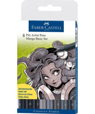 Pack 8 rotuladores manga FABER-CASTELL