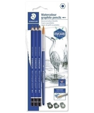 Pack de 3 lapices de dibujo acuarelable