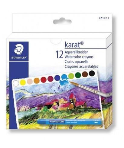 Ceras acuarelables- 12 colores. STAEDTLE