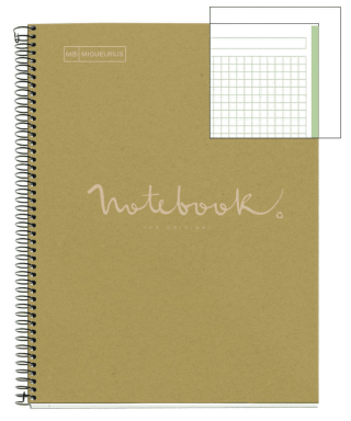 Cuaderno A4 80h ecoverde MR