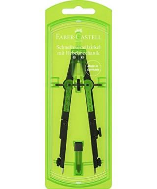 Compas con palanca verde FABER-CASTELL