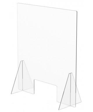 Mampara de protección de mostrador 750 x 680