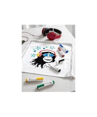 Blister 5 marcadores para textiles basic