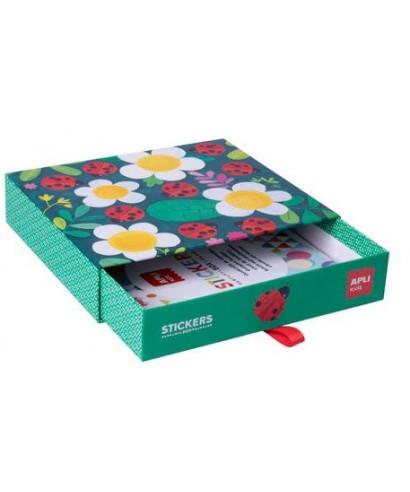 Sticker box geometricos mariquita - APLI