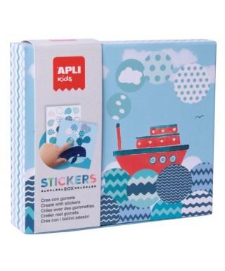 Sticker box geométricos barco - APLI