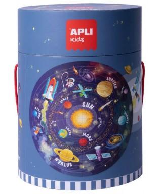 Puzzle circular mapamundi - APLI