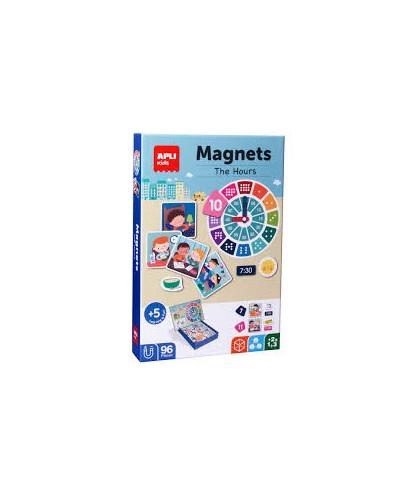Puzzle magnetico- Las horas APLI