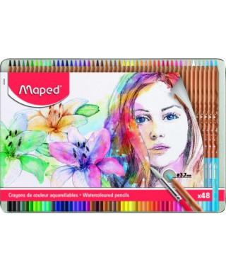 Caja de 48 lapices de colores acuarelabl