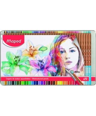 Caja de 72 lapices de colores acuarelabl