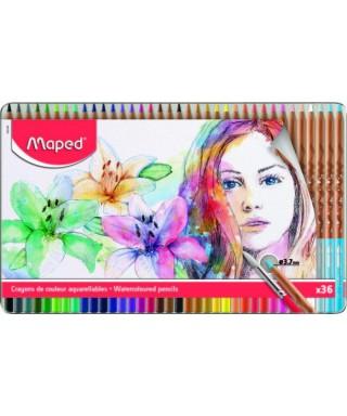 Caja de 36 lapices de colores acuarelabl